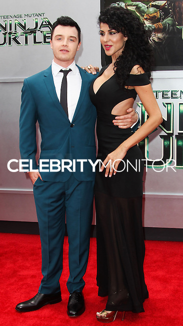 WESTWOOD, LOS ANGELES, CA, USA - AUGUST 03: Noel Fisher, Layla Alizada at the Los Angeles Premiere Of Paramount Pictures' 'Teenage Mutant Ninja Turtles' held at Regency Village Theatre on August 3, 2014 in Westwood, Los Angeles, California, United States. (Photo by Celebrity Monitor)