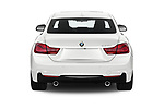 Straight rear view of 2019 BMW 4-Series 440i-M-Sport Door Coupe Rear View  stock images