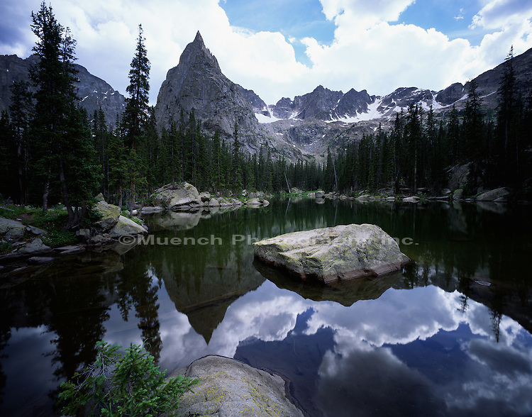 """Mirror Lake, Lone Eagle Peak, Indian Peaks Wilderness"