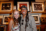 Anastasia Savko and Jacques Thelemaque.Marvel Artworks Party.Every Picture Tells A Story Gallery.Santa Monica, California.29 July 2009.Photo by Nina Prommer/Milestone Photo