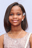 LOS ANGELES, CA - JUNE 30: Quvenzhane Wallis attends the 2013 BET Awards at Nokia Theatre L.A. Live on June 30, 2013 in Los Angeles, California. (Photo by Celebrity Monitor)