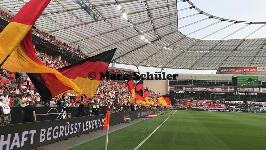 Innenraum der BayArena vor dem Länderspiel - 08.06.2018: Deutschland vs. Saudi-Arabien, Freundschaftsspiel, BayArena Leverkusen