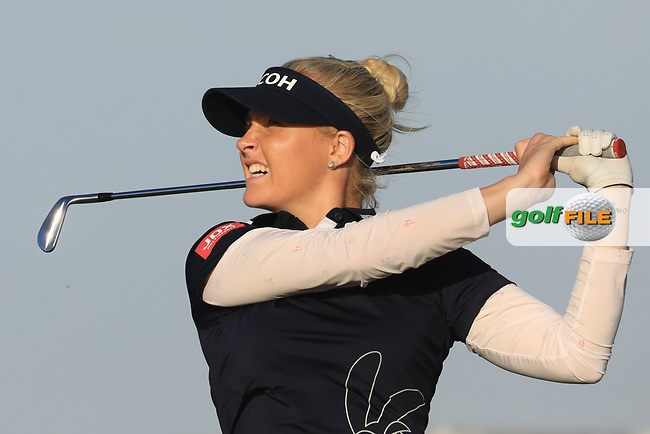 Charley Hull (ENG) during the second round of the Fatima Bint Mubarak Ladies Open played at Saadiyat Beach Golf Club, Abu Dhabi, UAE. 11/01/2019<br /> Picture: Golffile | Phil Inglis<br /> <br /> All photo usage must carry mandatory copyright credit (&copy; Golffile | Phil Inglis)