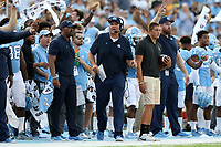 CHAPEL HILL, NC - SEPTEMBER 21: Special Teams Coordinator Scott Boone of the University of North Carolina during a game between Appalachian State University and University of North Carolina at Kenan Memorial Stadium on September 21, 2019 in Chapel Hill, North Carolina.
