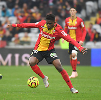 20181124 - LENS , FRANCE : Lens' Cheick Doucoure pictured during the soccer match between Racing Club de LENS and Grenoble Foot 38, on the 15th  matchday in the French Dominos pizza Ligue 2 at the Stade Bollaert Delelis stadium , Lens . Saturday 24 Novembre 2018 . PHOTO DIRK VUYLSTEKE | SPORTPIX.BE