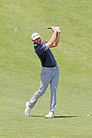 Dustin Johnson (USA) hits his second shot on the 9th hole during the second round of the 118th U.S. Open Championship at Shinnecock Hills Golf Club in Southampton, NY, USA. 15th June 2018.<br /> Picture: Golffile | Brian Spurlock<br /> <br /> <br /> All photo usage must carry mandatory copyright credit (&copy; Golffile | Brian Spurlock)