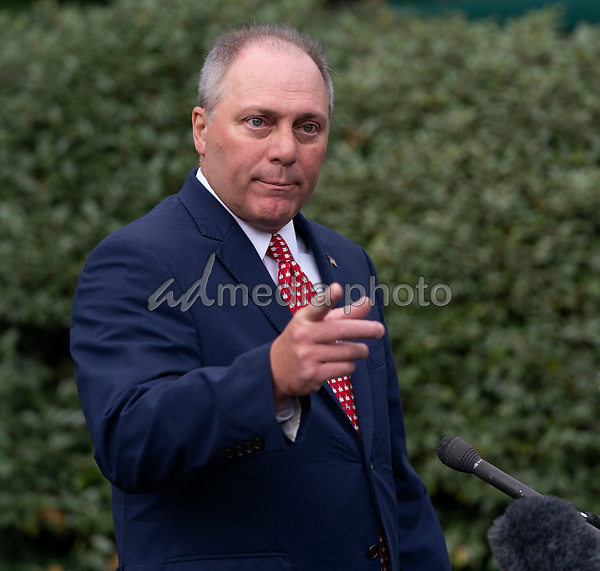 United States House Minority Whip Steve Scalise (Republican of Louisiana) speaks to the media the White House in Washington, DC, May 14, 2019. Photo Credit: Chris Kleponis/CNP/AdMedia