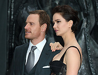 Michael Fassbender and  Katherine Waterston at the Alien: Covenant - World Premiere at the Odeon Leicester Square, London on May 4th 2017<br />  <br /> CAP/ROS<br /> &copy;ROS/Capital Pictures /MediaPunch ***NORTH AND SOUTH AMERICAS ONLY***
