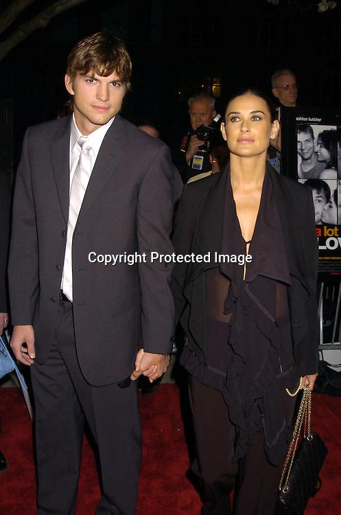 """Ashton Kutcher and Demi Moore ..at a Special Screening of """" A Lot Like Love"""" on april 18, 2005 at the Clearview Chelsea West Cinema. ..Photo by Robin Platzer, Twin Images"""