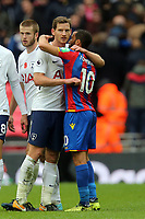 Andros Townsend of Crystal Palace and Jan Vertonghen of Tottenham Hotspur after Tottenham Hotspur vs Crystal Palace, Premier League Football at Wembley Stadium on 5th November 2017