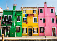 Houses on Burano Island, Italy