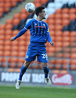 Rochdale's Zach Clough<br /> <br /> Photographer Stephen White/CameraSport<br /> <br /> The EFL Sky Bet League One - Blackpool v Rochdale - Saturday 6th October 2018 - Bloomfield Road - Blackpool<br /> <br /> World Copyright © 2018 CameraSport. All rights reserved. 43 Linden Ave. Countesthorpe. Leicester. England. LE8 5PG - Tel: +44 (0) 116 277 4147 - admin@camerasport.com - www.camerasport.com