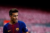 1st October 2017, Camp Nou, Barcelona, Spain; La Liga football, Barcelona versus Las Palmas; Denis Suarez of FC Barcelona during the match as the game is played behind closed doors due to the riots in Barcelona during the Catlaonio referendum