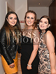 Kellie Winters celebrating her 18th birthday in Brú with friends Katie McCormack and Amy Carney. Photo:Colin Bell/pressphotos.ie