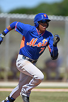 New York Mets Milton Ramos (7) during a minor league spring training game against the St. Louis Cardinals on April 1, 2015 at the Roger Dean Complex in Jupiter, Florida.  (Mike Janes/Four Seam Images)