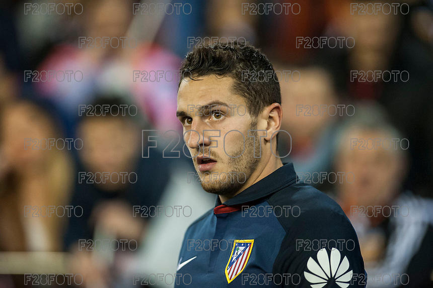VALENCIA, SPAIN - MARCH 6: Koke during BBVA League match between Valencia C.F. and Athletico de Madrid at Mestalla Stadium on March 6, 2015 in Valencia, Spain