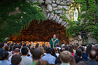July 9, 2015; Grotto Mass for ACE. (Photo by Barbara Johnston/University of Notre Dame)