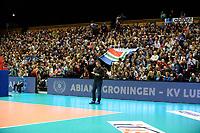 GRONINGEN - Volleybal, Abiant Lycurgus - Luboteni, voorronde Champions League, seizoen 2017-2018, 26-10-2017 volle tribunes