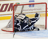 Spencer McAvoy (StFX - 5), Morgan Clark (StFX - 33) - The Boston College Eagles defeated the visiting St. Francis Xavier University X-Men 8-2 in an exhibition game on Sunday, October 6, 2013, at Kelley Rink in Conte Forum in Chestnut Hill, Massachusetts.