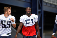 July 26, 2018: New England Patriots running back Sony Michel (51) heads to practice at the New England Patriots training camp held on the practice fields at Gillette Stadium, in Foxborough, Massachusetts. Eric Canha/CSM