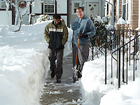 The Cleanup Begins | Winter Storm 12 January 2011 in Hamden CT. Scenes of Our Front Yard and Parking Lot