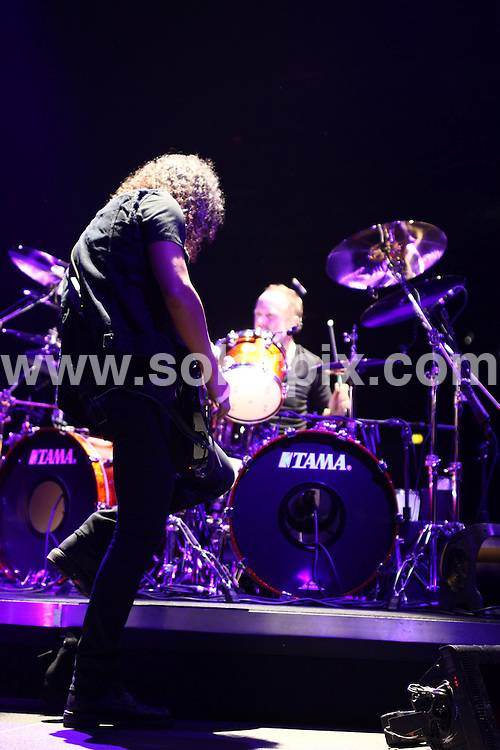 **ALL ROUND PICTURES FROM SOLARPIX.COM**.**WORLDWIDE SYNDICATION RIGHTS**.Metallica in concert at the LG Arena in Birmingham, UK. 26 March 2009..This pic: Metallica..JOB REF: 8730 NYA     DATE: 26_03_2009.**MUST CREDIT SOLARPIX.COM OR DOUBLE FEE WILL BE CHARGED**.**ONLINE USAGE FEE GBP 50.00 PER PICTURE - NOTIFICATION OF USAGE TO PHOTO @ SOLARPIX.COM**.**CALL SOLARPIX : +34 952 811 768 or LOW RATE FROM UK 0844 617 7637**