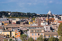 View of the Trastevere area of Rome, Italy