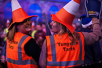 20.12.2014.  London, England.  William Hill PDC World Darts Championship.  Darts fans at the 2015 William Hill World Darts Championship.
