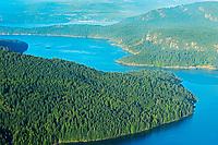 View from summit of Mount Maxwell. Mount Maxwell Park, Saltspring Island (Gulf Islands), British Columbia, Canada