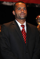 D.C. United forward Santos Maicon,at the United Kickoff luncheon, at the Marriott hotel in Washington DC, March 5, 2012.