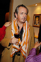 art critic Adrian Dannatt at   the Claire Shenstone art opening for.at the Yanugi Gallery in NYC, 2005