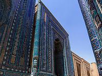 Shohi Zinda Nekropole, Samarkand, Usbekistan, Asien, UNESCO Weltkulturerbe<br /> necropole Shohi Zinda, Samarkand, Uzbekistan, Asia, UNESCO Heritage Site