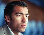 Giovanni Van Bronckhorst, Rangers, sitting in Ibrox club deck
