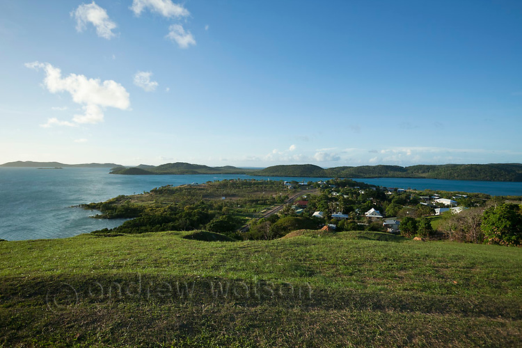 View across Thursday Island to neighbouring Hammond Island.  Thursday Island, Torres Strait Islands, Queensland, Australia