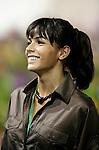 Motorsports / Formula 1: World Championship 2008, GP of Singapore,  Rosario Macias, girlfriend of 1 Fernando Alonso (ESP, Renault)