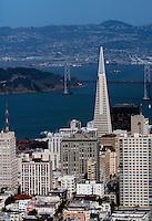 aerial photograph TransAmerica pyramid San Francisco, California