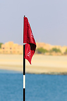 Pinflag on 18 during the first round of the Ras Al Khaimah Challenge Tour Grand Final played at Al Hamra Golf Club, Ras Al Khaimah, UAE. 31/10/2018<br /> Picture: Golffile | Phil Inglis<br /> <br /> All photo usage must carry mandatory copyright credit (&copy; Golffile | Phil Inglis)