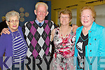 Abbeyfeale Tea Dance in aid of Fr. Tim Galvin of Abbeyfeale for his work in schools in South Sudan as part of Abbeyfeale for Africa, which took place on Sunday in Fr. Casey's GAA clubhouse in Abbeyfeale.  Pictured L-R were : Mai Nagle of Currow, Paddy McAuliffe of Brosna, Mary O'Connor of Castleisland and Kathleen Hickey of Duagh.