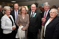 Ready for the how: from left are Beth and Lieutenant Colonel Mick Foster, Rachel Salmon, Arnold Thompson, Martin Salmon and Mary Thompson