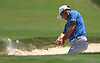 Gary Woodland blasts out of a bunker on the 3rd Hole during the final round of the U.S. Open Championship at Shinnecock Hills Golf Club in Southampton during the final round of the U.S. Open Championship on Sunday, June 17, 2018.