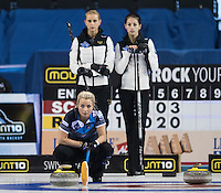 Glasgow. SCOTLAND.   Vicki ADAMS, during  the &quot;Round Robin&quot; Game.  Scotland vs Russia,  Le Gruy&egrave;re European Curling Championships. 2016 Venue, Braehead  Scotland<br /> Thursday  24/11/2016<br /> <br /> [Mandatory Credit; Peter Spurrier/Intersport-images]