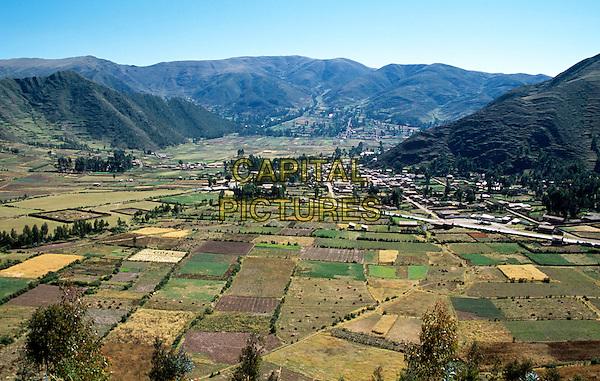Looking down onto Corao, near Cusco, Peru