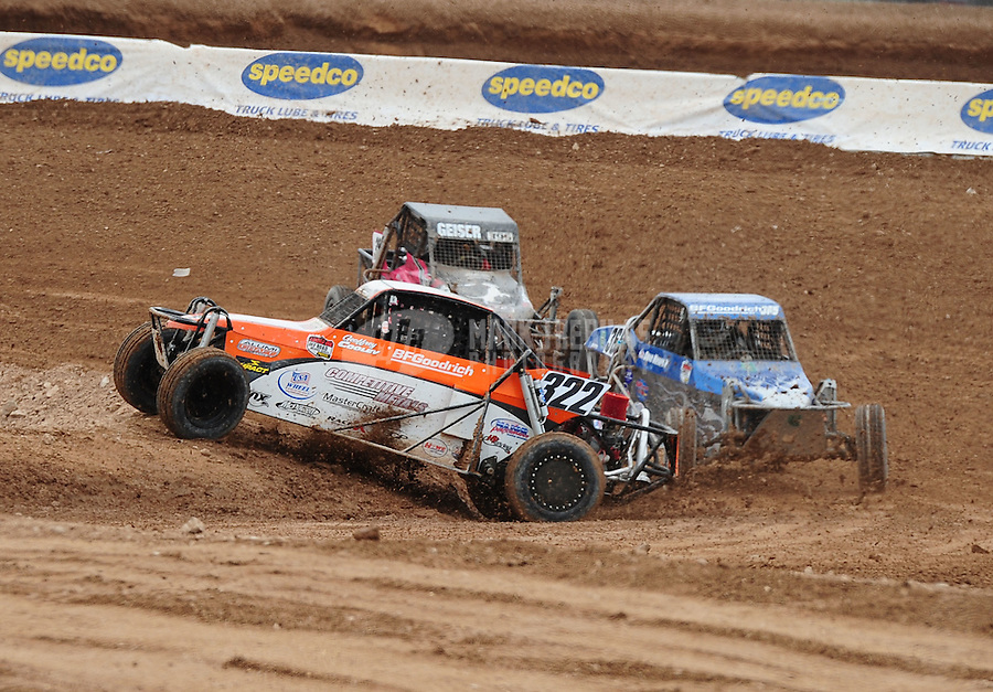 Mar. 20, 2011; Chandler, AZ, USA;  LOORRS limited buggy driver Geoffrey Cooley runs off track in turn 3 during round two at Firebird International Raceway. Mandatory Credit: Mark J. Rebilas-