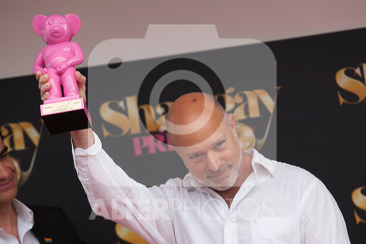 Stonewall 45 president Alan Reiff attends SHANGAY PRIDE and MADO Madrid Orgullo presentation and receives the Madrid Orgullo Muestra-T award in Madrid, Spain. July 03, 2013. (ALTERPHOTOS/Victor Blanco)