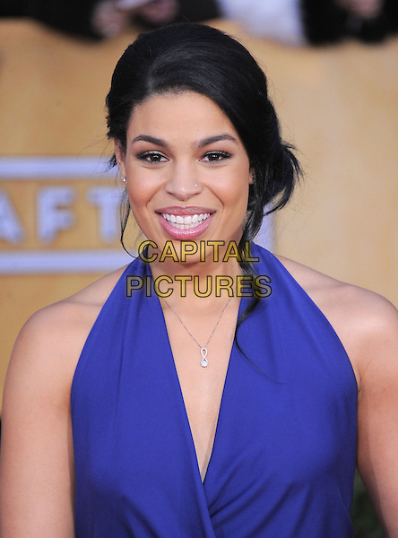 Jordin Sparks.Arrivals at the 19th Annual Screen Actors Guild Awards at the Shrine Auditorium in Los Angeles, California, USA..27th January 2013.SAG SAGs headshot portrait blue purple halterneck .CAP/DVS.©DVS/Capital Pictures.
