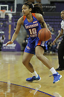 SEATTLE, WA - DECEMBER 18: Savannah State's Kiersyan Green against Washington.  Washington won 87-36 over Savannah State at Alaska Airlines Arena in Seattle, WA.