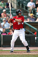 May 2, 2010:  First Baseman Brock Peterson (30) of the Rochester Red Wings at bat during a game vs. the Durham Bulls at Frontier Field in Rochester, NY.  Rochester defeated Durham in extra innings by the score of 7-6.  Photo By Mike Janes/Four Seam Images
