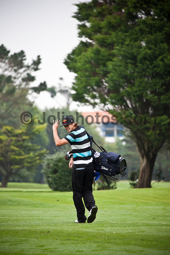 TIM BOAL (FRA) playing golf during a Charity Golf Day at Golf des Biarritz 'La Phare' (lighthouse), Cote Basque, Biarritz, France. Photo: joliphotos.com