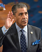 United States Representative Adriano Espaillat (Democrat of New York) takes the oath of office on the floor of the US House of Representatives during his first day in office in the US Capitol in Washington, DC on Tuesday, January 3, 2017.<br /> Credit: Ron Sachs / CNP<br /> (RESTRICTION: NO New York or New Jersey Newspapers or newspapers within a 75 mile radius of New York City)