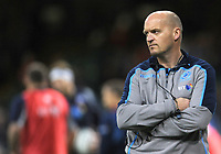 Scotland's Head Coach Gregor Townsend during the pre match warm up<br /> <br /> Photographer Ian Cook/CameraSport<br /> <br /> Under Armour Series Autumn Internationals - Wales v Scotland - Saturday 3rd November 2018 - Principality Stadium - Cardiff<br /> <br /> World Copyright &copy; 2018 CameraSport. All rights reserved. 43 Linden Ave. Countesthorpe. Leicester. England. LE8 5PG - Tel: +44 (0) 116 277 4147 - admin@camerasport.com - www.camerasport.com